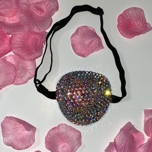 Luxury Crystal AB Medical Eye Patch Cover UP
